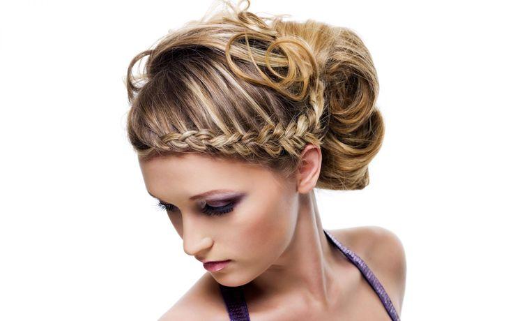 Peinados con trenzas y recogido - Nice hairstyle with braids
