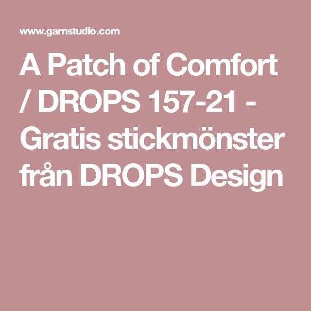 A Patch of Comfort / DROPS 157-21 - Gratis stickmönster från DROPS Design