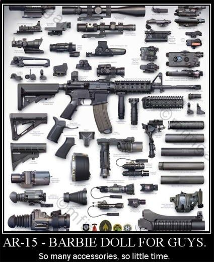 Accessories for the AR-15 rifle sights