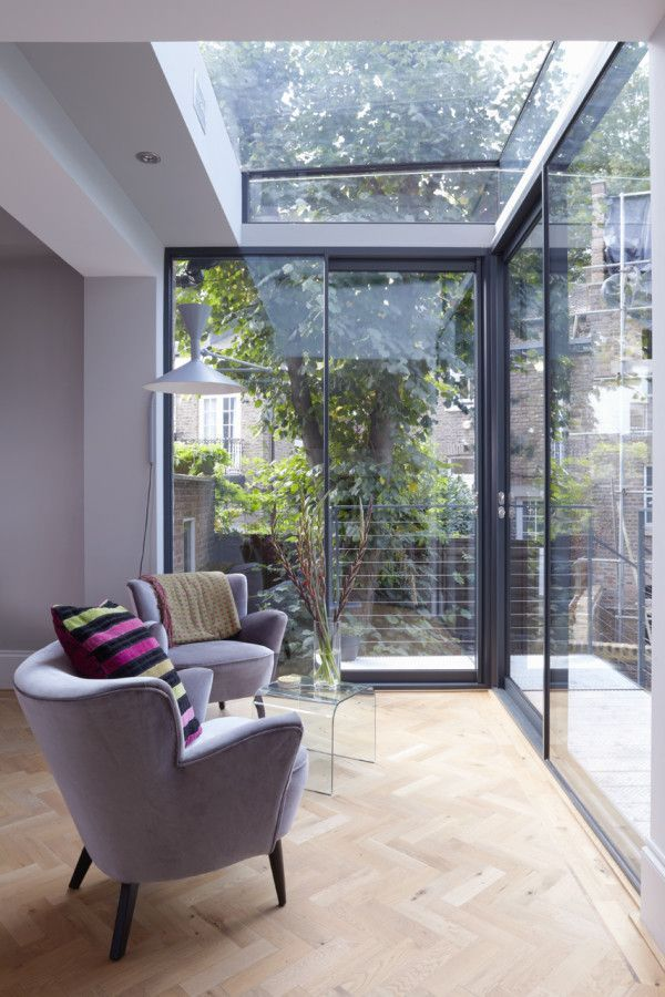 Glass wall and roof to bring in the light #design