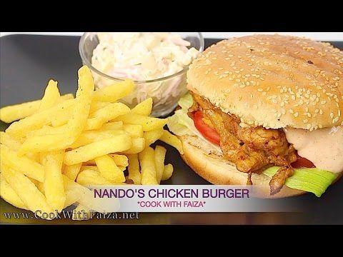 NANDO'S CHICKEN BURGER - نانڈوز چکن برگر - ननदोष चिकन बर्गर *COOK WITH F...