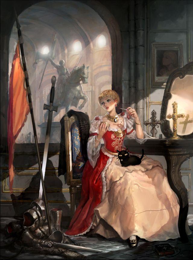 Jeanne d'arc Picture (2d, illustration, girl, woman ...