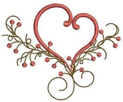 Folk Hearts 10 - 4x4 | Primitive | Machine Embroidery Designs | SWAKembroidery.com Ace Points Embroidery