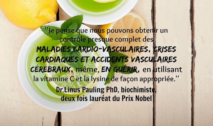 Dr.Linus Pauling , la vitamine C et les maladies cardiaques