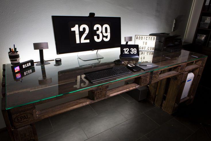 DIY Schreibtisch aus Europaletten – addictedtoli…