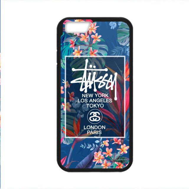 HOT Stussy Logo Custom Floral Print On Hard Plastic Cover Case For iPhone 7 plus #UnbrandedGeneric