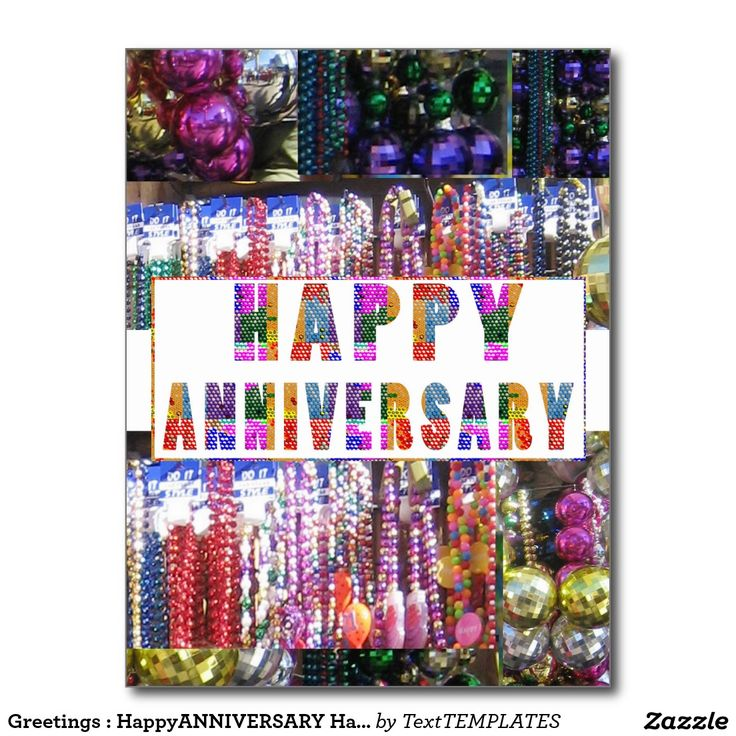 Greetings : HappyANNIVERSARY Happy Anniversary Postcard
