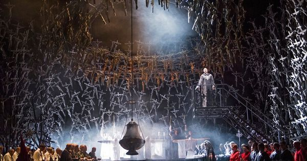 Norma at the Royal O - Norma at the Royal Opera House Covent Garden. Production by Àlex Ollé and --- #Theaterkompass #Theater #Theatre #Schauspiel #Tanztheater #Ballett #Oper #Musiktheater #Bühnenbau #Bühnenbild #Scénographie #Bühne #Stage #Set