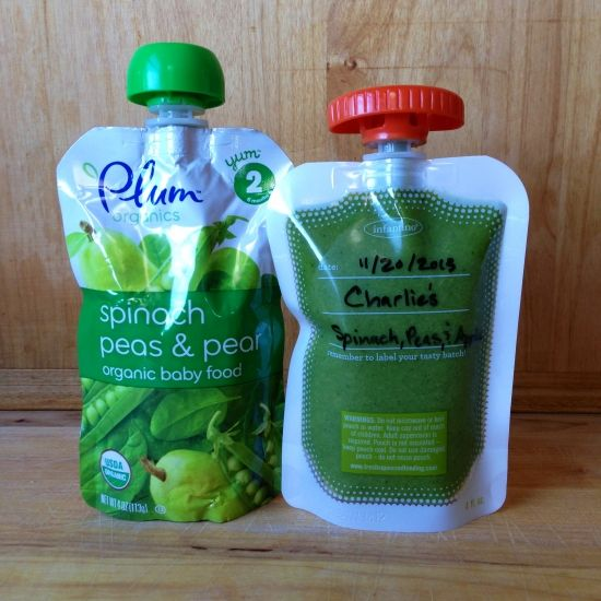 Spinach, Pea, & Apple: Plum Organic vs. Charlie's Homemade Squeezie