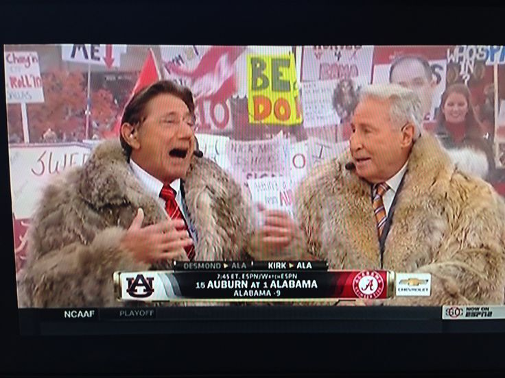 Joe Namath and Lee Corso predicting the Alabama vs Auburn game 2014