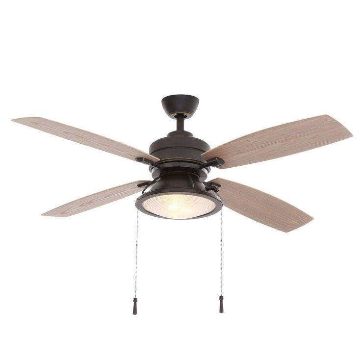 Hampton Bay Kodiak 52 in. Dark Restoration Bronze Indoor/Outdoor Ceiling Fan-14905 - The Home Depot