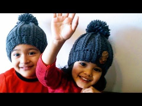 GORRO INVIERNO en crochet (ganchillo) UNISEX ❤ - YouTube