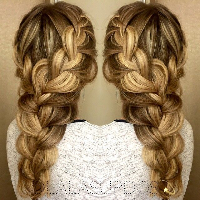 Mesmerizing long blonde braid