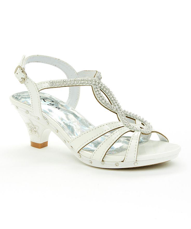 Look at this Rya White Rhinestone Sandal on #zulily today!