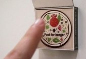 Magnet brings pizza delivery at the push of a button