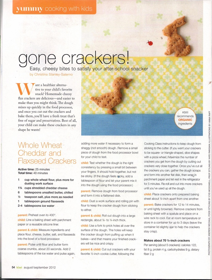 Whole wheat, cheddar, and flax seed crackers