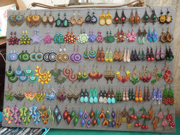 Macrame earrings heaven.. https://www.facebook.com/VuzelceNoduleNudito/photos/pcb.710342889075841/710342502409213/?type=1&theater