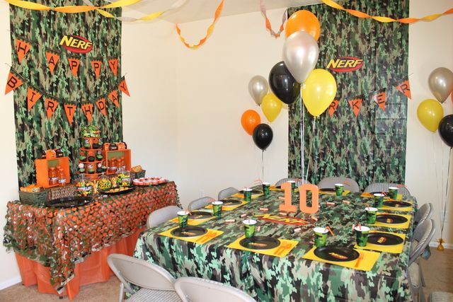 Nerf Birthday Party Ideas | Photo 1 of 13 | Catch My Party