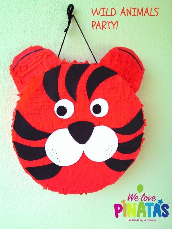 πινιάτα τίγρης, pinata tiger Πινιάτες οι αγαπημένες! (updated!) - Anthomeli