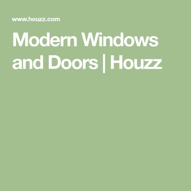 Modern Windows and Doors   Houzz