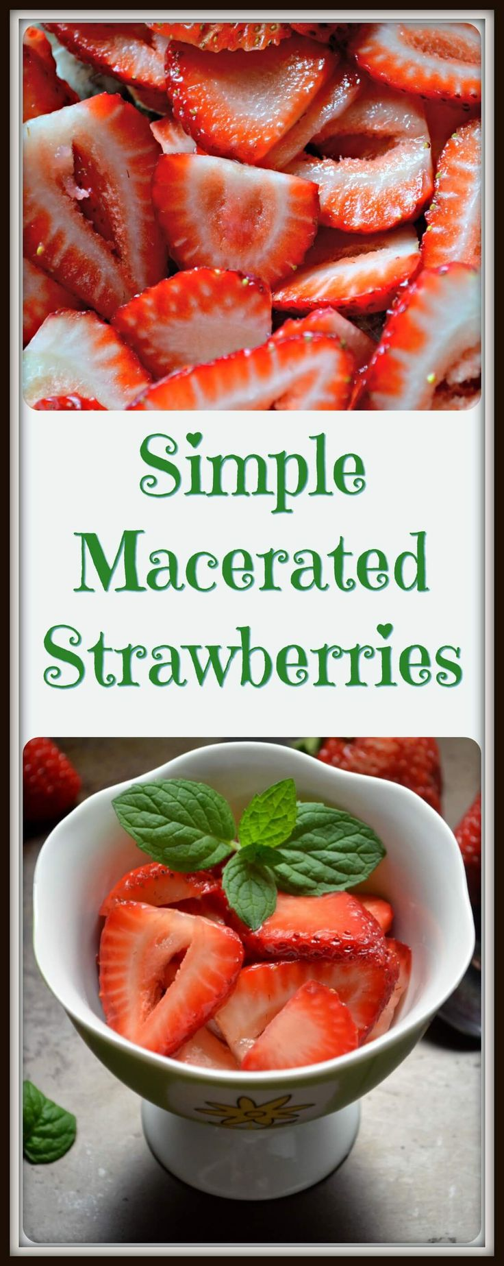 Do you have sour strawberries? Just add a little sweetness, to bring out their natural juices. Simple Macerated Strawberries... nothing could be easier. #CDNFoodCreatives