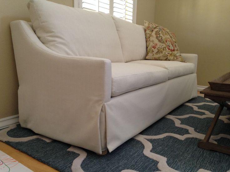 Slipcovered Mistral Sofa #sofas #customsofa #furniture #interiordesign #livingroom