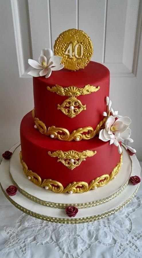 Best 25 40th anniversary cakes ideas on pinterest diy for 40th anniversary decoration ideas