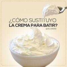 La Crema Batida (Nata Montada) es utilizada en infinidad de recetas para postres, pero cuando no la puedan consumir o no la puedan conseguir, pueden usar estas alternativas. Leche en polvo, Jugo de…