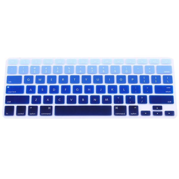 """For Apple Macbook Keyboard Cover 11""""13"""" 15"""" Rainbow Laptop Keyboard Stickers US Version Silicone Skin Protector Covers Colorful"""