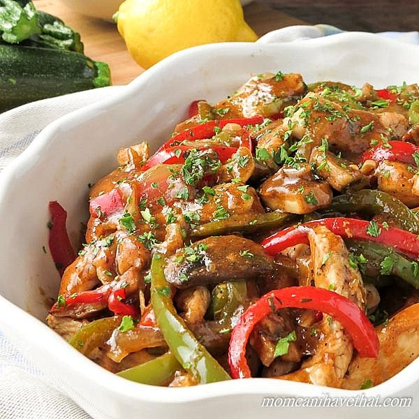 This Sherry Chicken Saute with Mushrooms & Peppers is my low carb twist on a very popular Italian-American dish which typically includes sausage and Marsala wine.