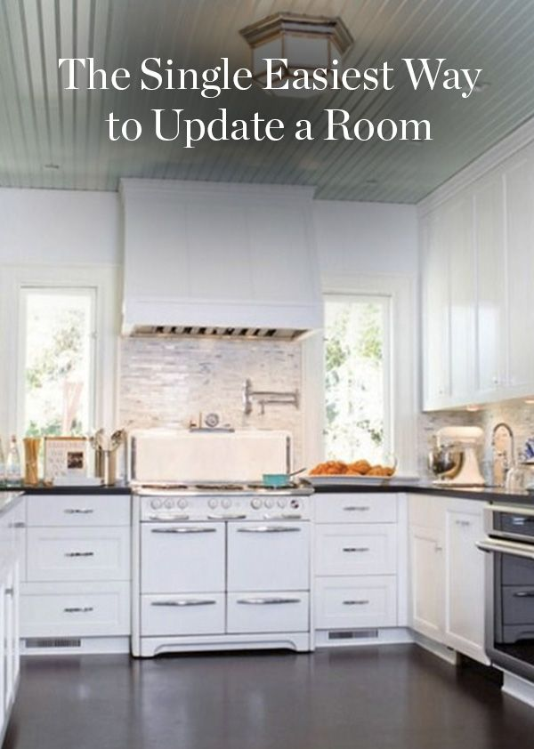 The Single Easiest Way to Update a Room. It's an easy, cheap way to shake things up at home and all you need is a can of paint.