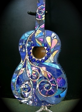The color of blues : mosaic guitar by cynthia litwer