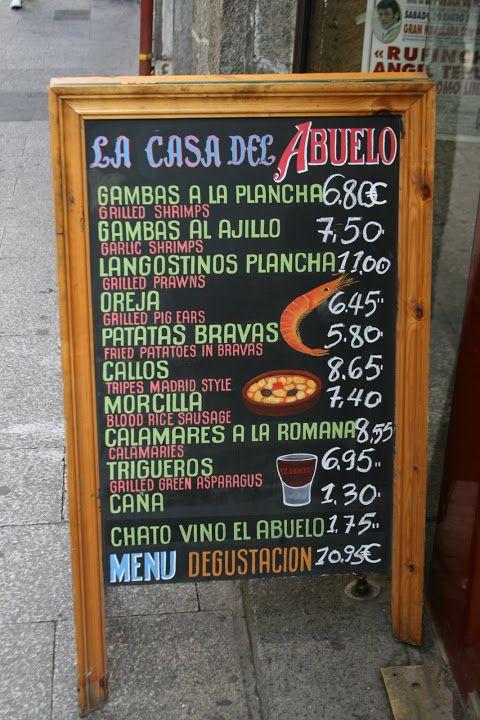 17 best images about madrid classics restaurants dishes - La casa vieja del abuelo ...