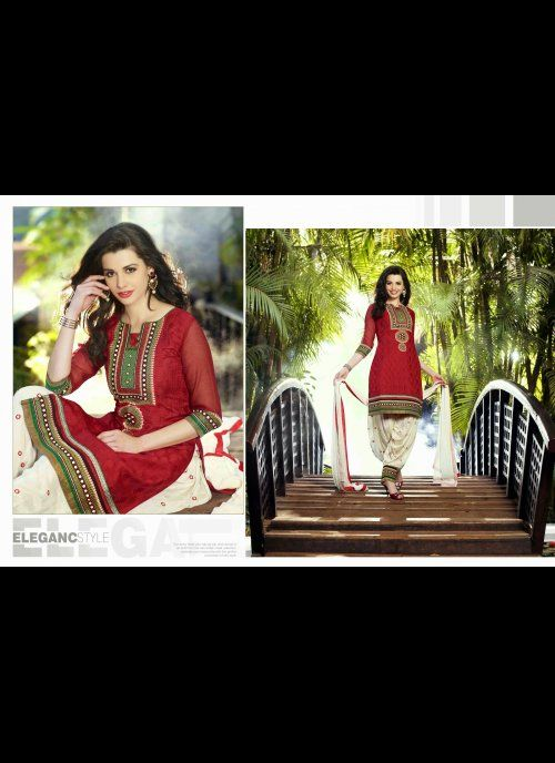 Adorable Red Salwar Kameez #designer #salwarkameez #pakistani #chudidar #suit #shalwar #kameez #indian  #net #georgette #indiantrendz #asianclothing #partywear #women #traditional #dresses