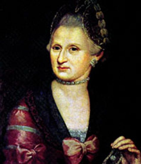 Maria Anna (Nannerl) Mozart. Almost as much musical genius as he brother.