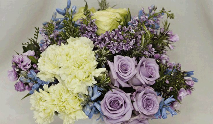 Lilac & Lime Green Country Style Bouquet