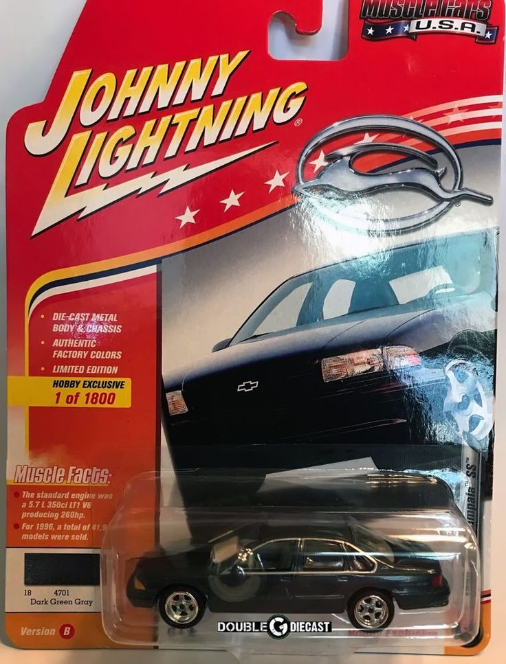 1996 Chevy Impala SS - Dark Green Gray - 1:64 Johnny Lightning Muscle Cars USA #JohnnyLightning #Chevrolet