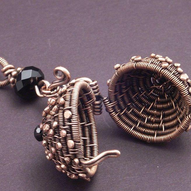 Woven Copper Ball   JewelryLessons.com  Mary Tucker
