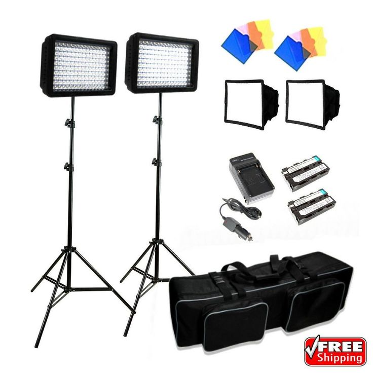 LimoStudio 3x 216 Barndoor Continuous LED Video Lighting Kit Dimmable Panel | Cameras & Photo, Lighting & Studio, Continuous Lighting | eBay!