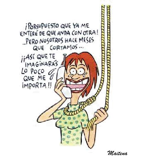 Maitena - No me importas - Humor grafico