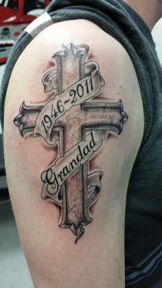 memory dad tattoo cross designs - Google Search
