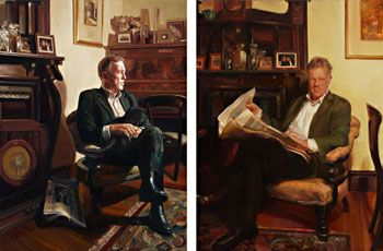 YVETTE COPPERSMITH - Mr Andrew Rule (Diptych)