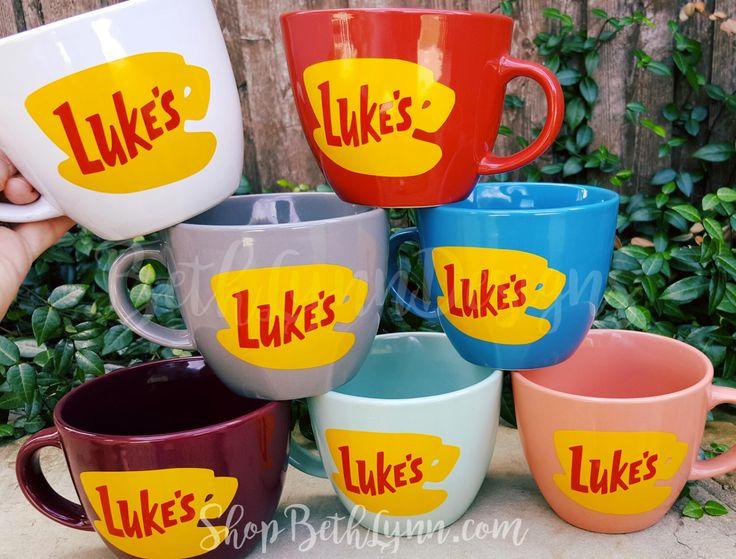 Luke's Diner Inspired Big Mug - logo on BOTH sides by BethLynnDesigns on Etsy https://www.etsy.com/listing/399637903/lukes-diner-inspired-big-mug-logo-on