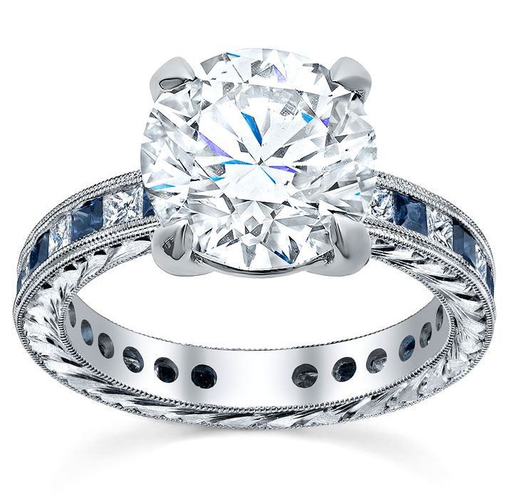 u ring rings and prongs bridge with pave engagement accented diamond
