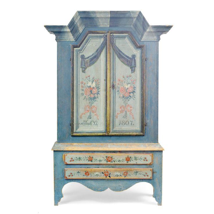 A Swedish cupboard dated 1807