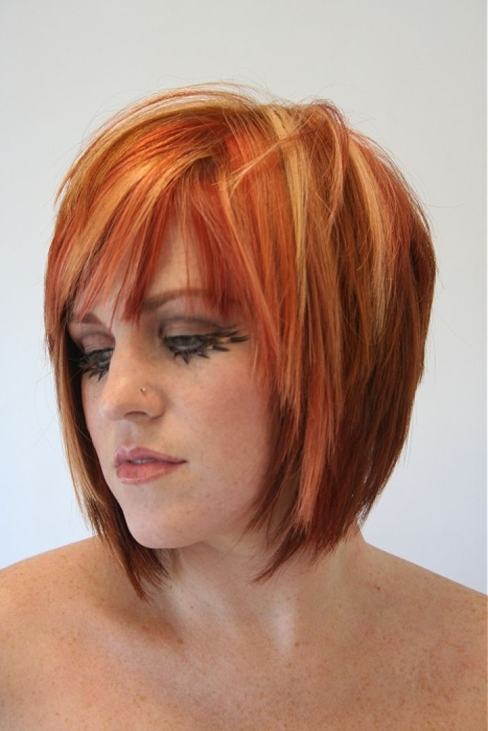 Red Short Funky Hairstyle Hair Styles Design 467x700 Pixel