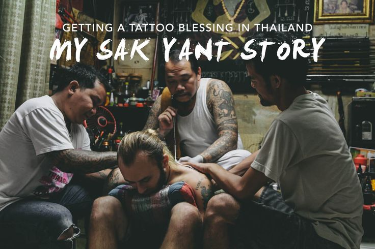 Getting a Sak Yant tattoo blessing from a monk or an ajarn in Thailand.