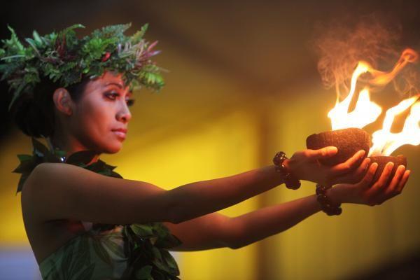 Hawaiian Dancer and Firepots Photograph  - Hawaiian Dancer and Firepots Fine Art Print