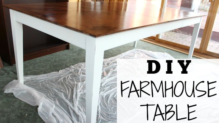 DIY FARMHOUSE TABLE for $70   Step-by-Step + Chalk Paint Recipe!