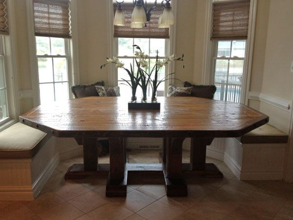Salvaged Barnwood Dining Table In Customers Home
